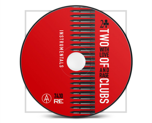 Two of Clubs: With Love And Rage, CD Design by The Human Animal