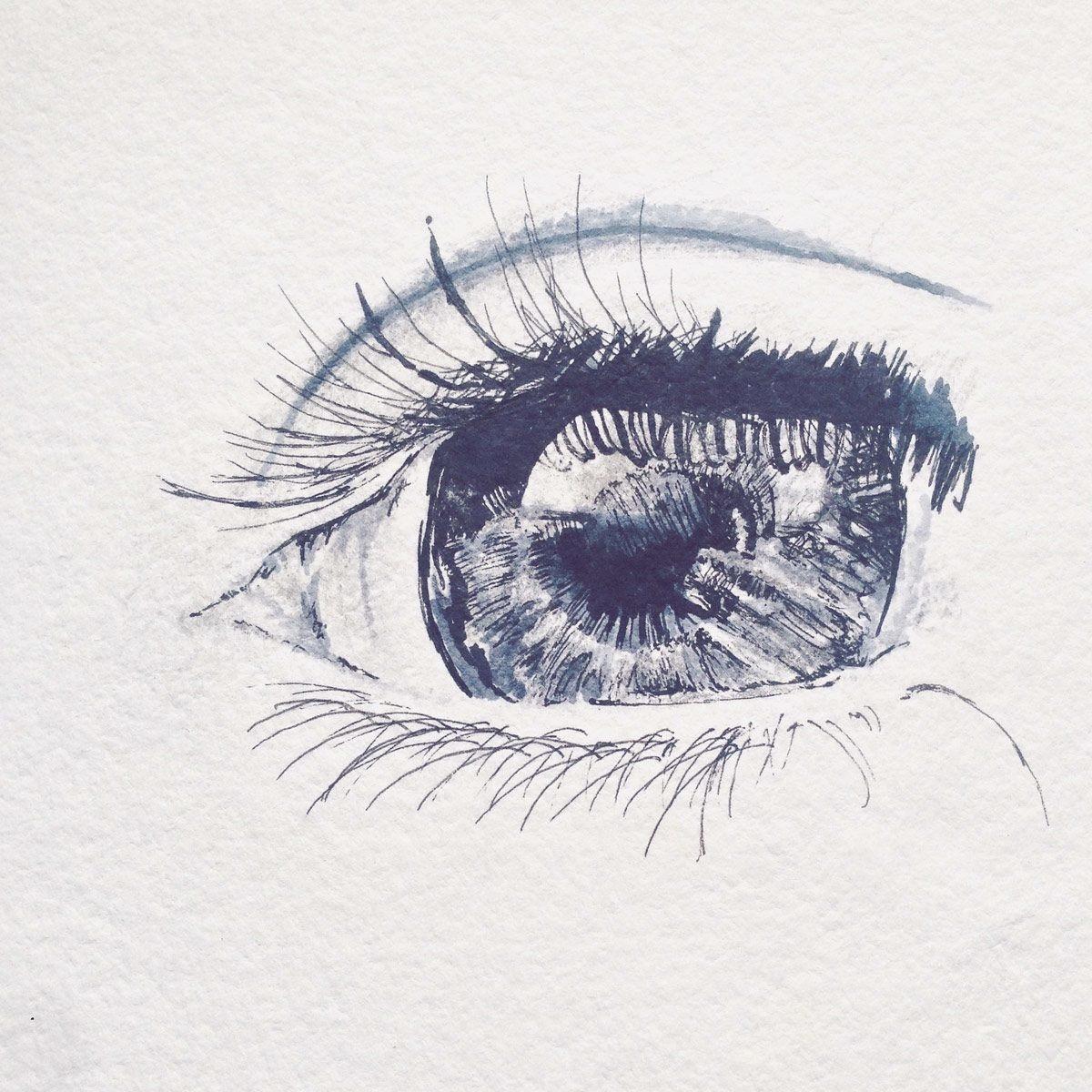 Animal Eyes Art Drawing