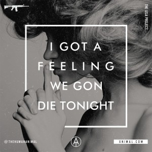 Lyric Typography // The Human Animal - Die Alive
